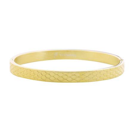 Gouden Bangle Snake Print Medium