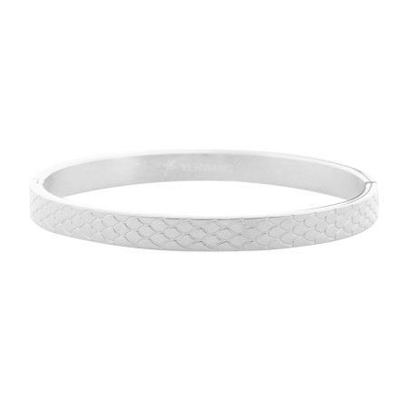Zilveren Bangle Snake Print Medium