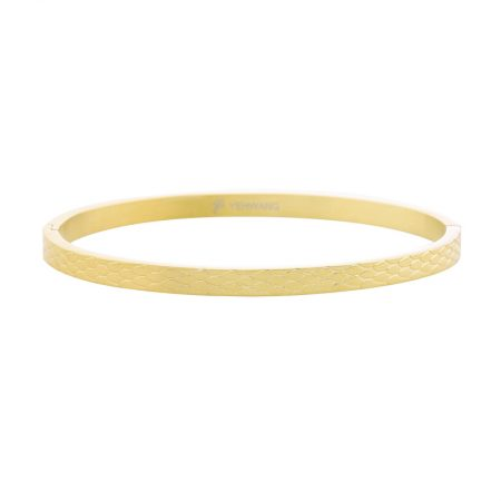 Gouden Bangle Snake Print Small