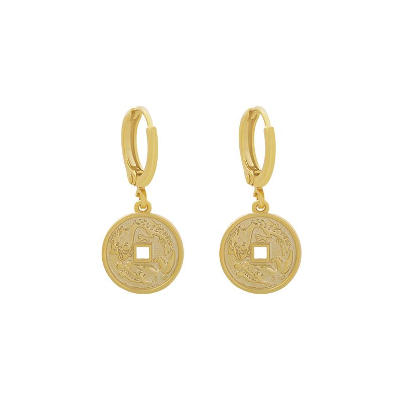 Gouden oorbellen met Mythological Coin