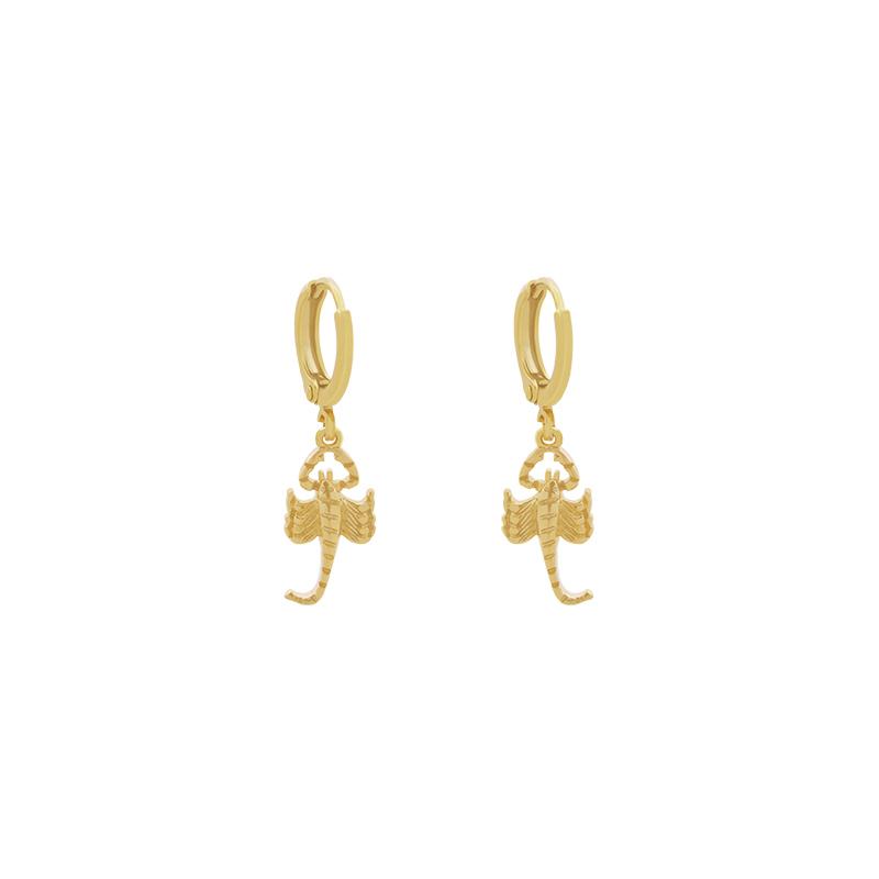 Gouden oorbellen Scorpio