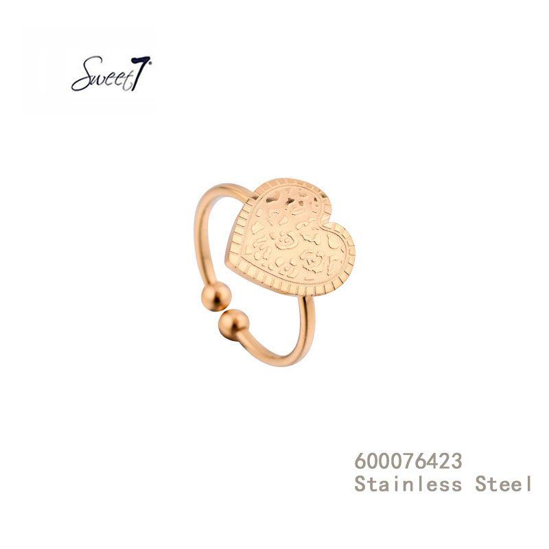 Gouden Ring met hart van Sweet7