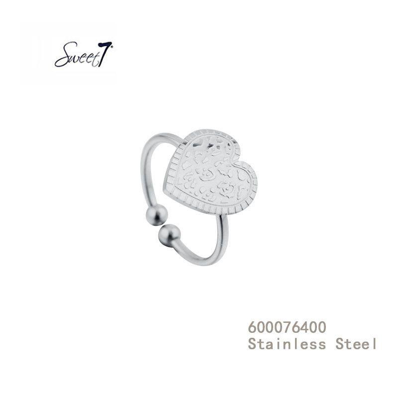 Zilveren Ring met hart van Sweet7